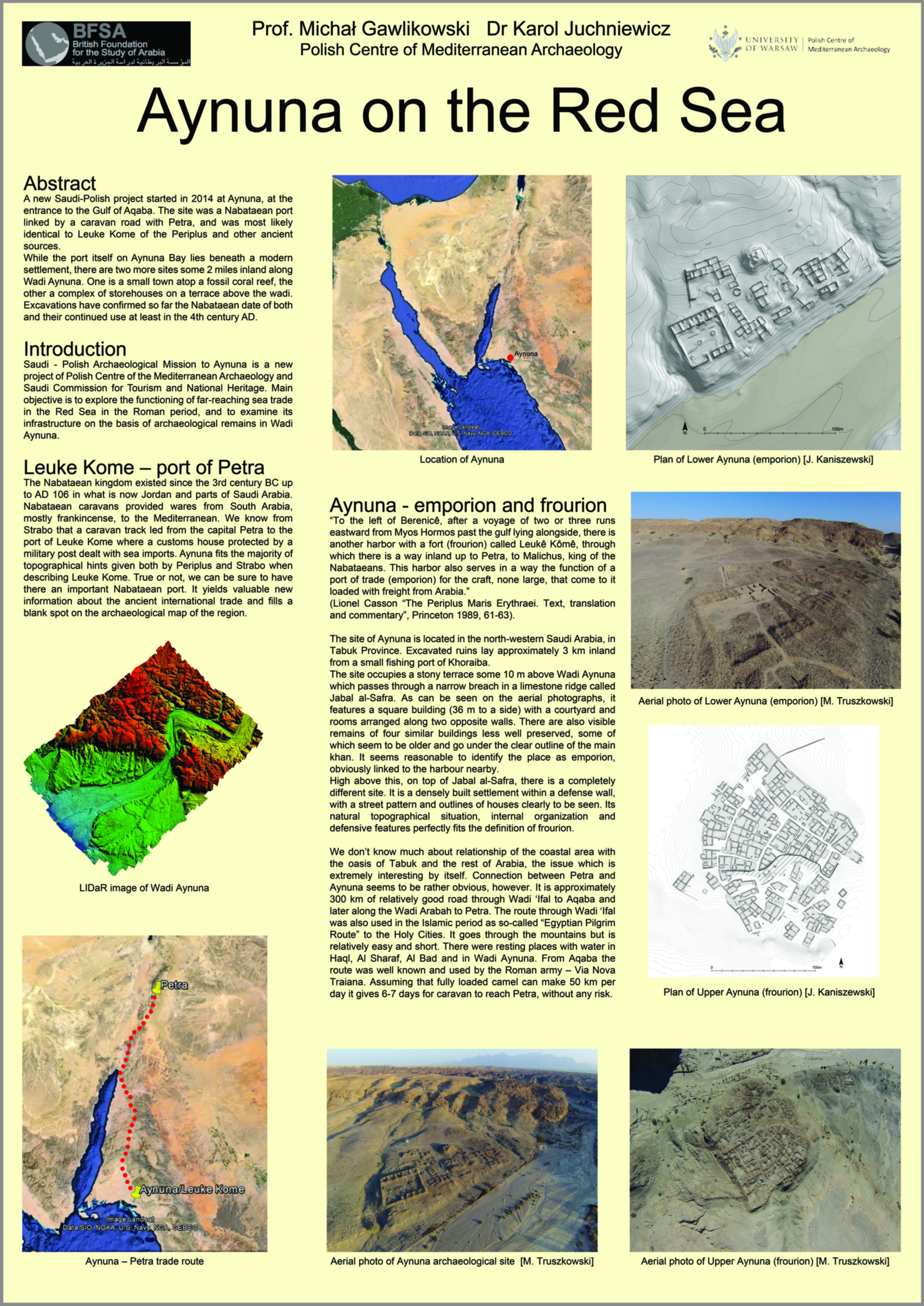 Aynuna - poster z Seminar for Arabian Studies 2016