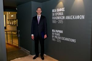 Rector of the University of Warsaw, Prof. Marcin Pałys, at the opening of the exhibition